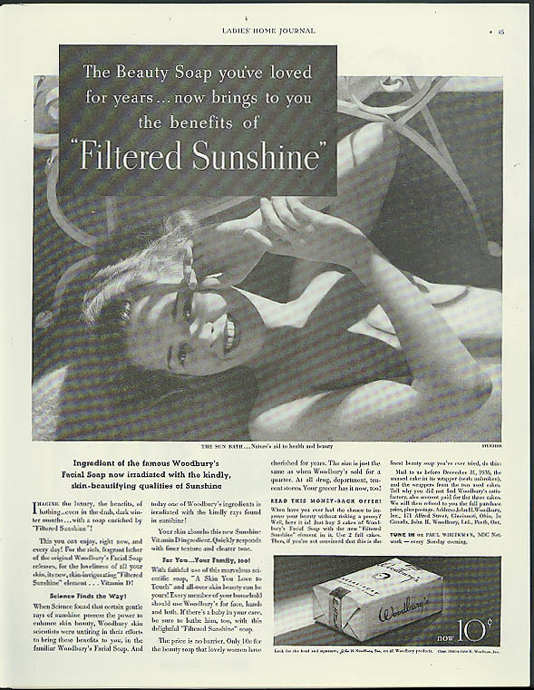 The Benefits of Filtered Sunshine Woodbury Soap ad 1936 Edward Steichen